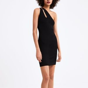 Zara black dress with cut outs